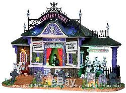 Lemax 25327 CEMETERY TOURS Spooky Town Lighted Building Halloween Decor New I