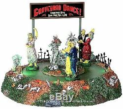 Lemax 34601 GRAVEYARD DANCE Spooky Town Table Accent Animated Halloween Decor I
