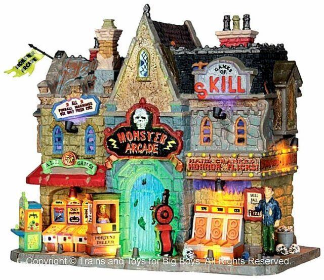 Lemax 35551 Monster Arcade Spooky Town Village Building Halloween Animated Nib