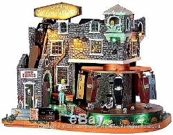 Lemax 45669 BOX-OF-BONES COFFIN FACTORY Spooky Town Lighted Building Animated I