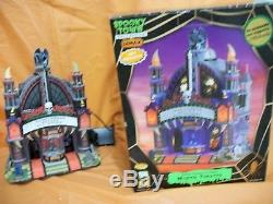 Lemax 75496 MORTIS THEATER Spooky Town Lighted Building Animated Sights & Sounds