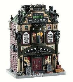 Lemax 85312 THE HAUNTED HOUSE OF PROPS Spooky Town Building Halloween Decor R