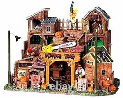 Lemax 95802 CHAINSAW'S LUMBER YARD Spooky Town Building Halloween Decor I