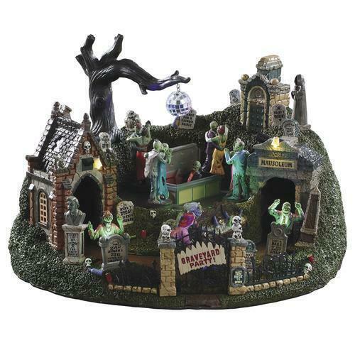 Lemax Halloween Graveyard Party Village Building Spooky Town