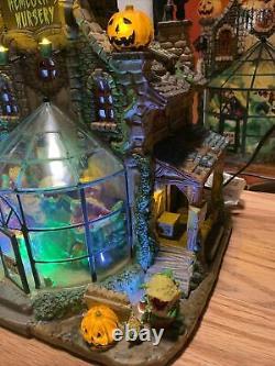 Lemax Halloween Spooky Town Hemlock's Nursery #45661 Works See Video In Details