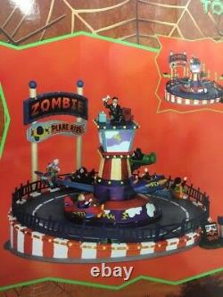 Lemax Halloween Zombie Plane Ride Lighted Village Building Spooky Town