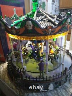 Lemax Signature Collection Halloween Carousel Spooky Town READ