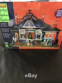 Lemax Signature Collection Spooky Town Cemetery Tours Halloween Opened To View