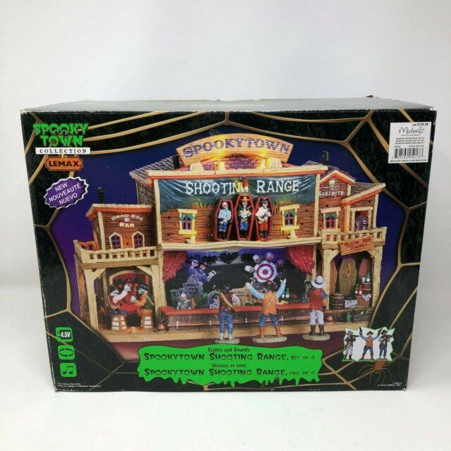 Lemax Spooky Town 2010 Shooting Range Complete W Box Mint Works