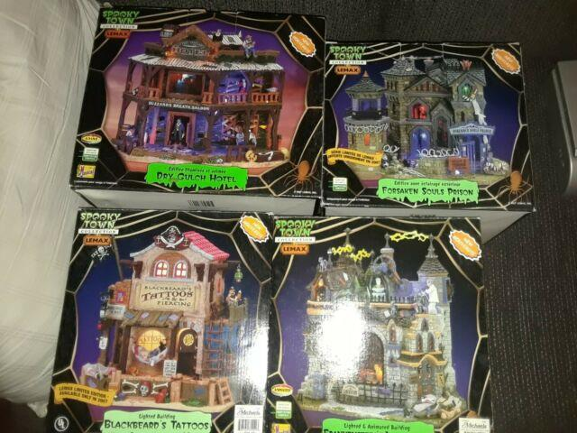 Lemax Spooky Town 4 Houses