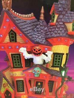 Lemax Spooky Town 75492 Nightmare On Oak St. Lighted Halloween 2007 Pumpkin RARE
