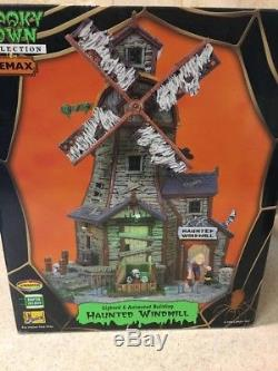 Lemax Spooky Town 85667 Haunted Windmill Lighted & Animated HARD TO FIND NEW