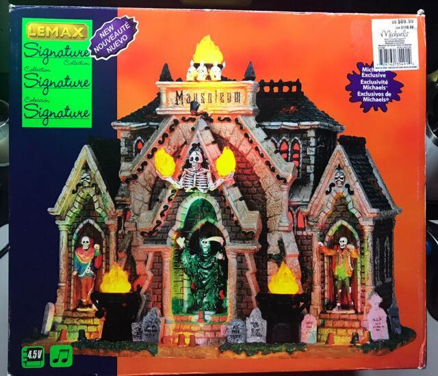 Lemax Spooky Town All Hallows Mausoleum Retired Halloween Village 2013 Read