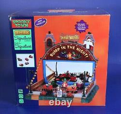 Lemax Spooky Town Animated Bump In The Night Cars Carnival Ride withSound & Lights