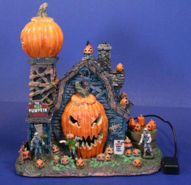 Lemax Spooky Town Animated Mad Pumpkin Patch Haunted House With Voice & Music