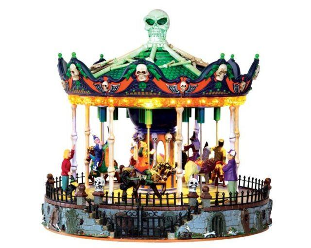 Lemax Spooky Town Carnival Scary-go-round #34605 Bnib Sights & Sounds