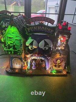 Lemax Spooky Town Chuckles Funhouse NIB RARE RETIRED 2013 #35547 VHTF
