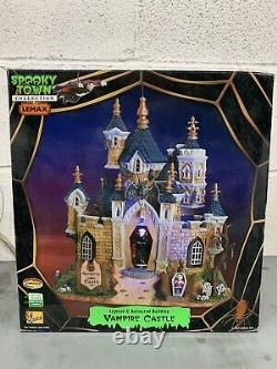 Lemax Spooky Town Collection Vampire Castle WORKS GREAT! Animated And Musical