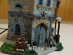 Lemax Spooky Town Dead City Police Station 05001 (2010) Very Rare