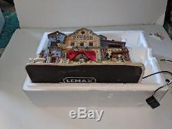 Lemax Spooky Town Dead as a Doornail Morgue RETIRED Building, Lights & Sound