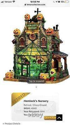 Lemax Spooky Town Hemlocks Nursery