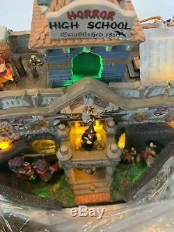 Lemax Spooky Town Horror High School Halloween Decor Box Tested Never Displayed
