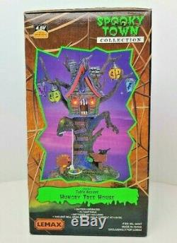Lemax Spooky Town Hungry Tree House #64427 RARE! RETIRED! NEW IN BOX