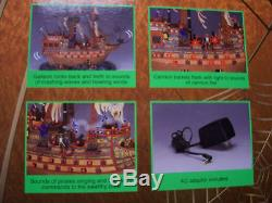 Lemax Spooky Town LIGHTED GHOST GALLEON PIRATE SHIP 2003 Animated withSound MIB