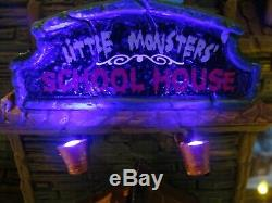 Lemax Spooky Town LITTLE MONSTERS SCHOOL HOUSE 05017 RARE! Retired