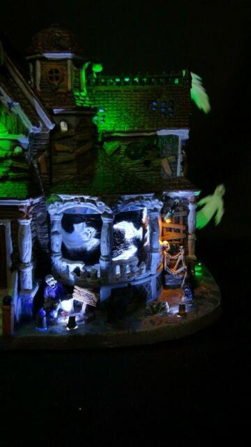 Lemax Spooky Town Last House On The Left Halloween Village Retired Ghosts Video
