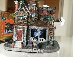 Lemax Spooky Town Last House on the Left and Figurine