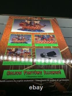 Lemax Spooky Town Lighted GHOST GALLEON Pirate Ship 35781A Halloween W Box