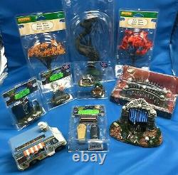 Lemax Spooky Town Lot of 10 Retired Halloween Village Accessories SHIPS FREE