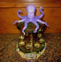 Lemax Spooky Town Octo-Swing 14379 Halloween Carnival Animated