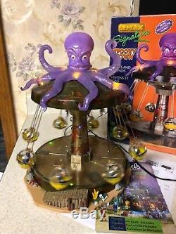 Lemax Spooky Town Octo-Swing Halloween Amusement Park Carnival Ride octopus MIB