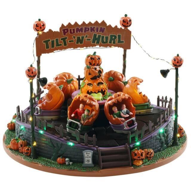 Lemax Spooky Town Pumpkin Tilt-n-hurl New