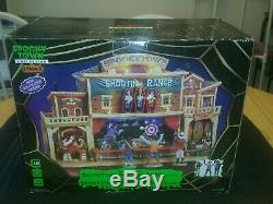 Lemax Spooky Town SHOOTING RANGE in MINT CONDITION Complete 4 Piece Set