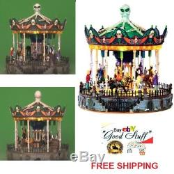 Lemax Spooky Town Scary Go Round Carousel Carnival Ride Halloween Tabletop Decor