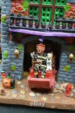 Lemax Spooky Town Spooky Town Fire Department Works! See Video Original Box