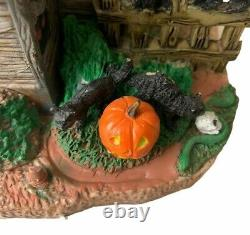 Lemax Spooky Town Vicki's Cattery 2010 Retired Black Cat Haunted House Halloween