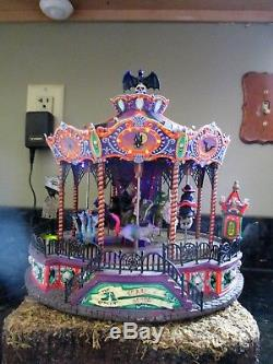 Lemax Spooky Town Village Scare Ousel Halloween carousel Rare! Carnival