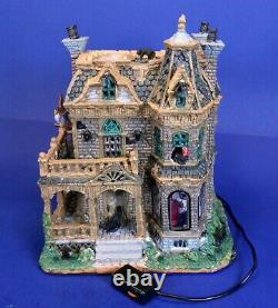Lemax Spooky Town Withered Mansion Haunted House /Scary Sounds & Flashing Lights