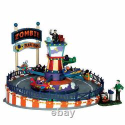 Lemax Spooky Town Zombie Plane Ride Carnival Ride NEW