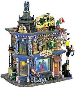 Lemax Spooky Town Zombie's Cafe Lighted Building Halloween Retired #65346 2006