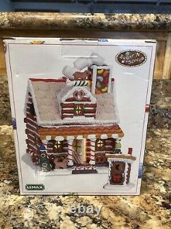 Lemax Sugar N Spice The Pretzel Cabin Set Of Two Outhouse Perfect