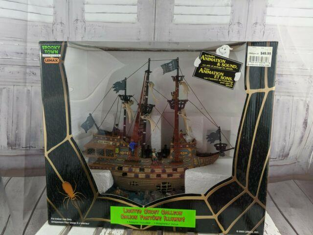 Lemax Halloween Village Spooky Ghost Ship Galleon Pirate Sailing New 2003 Buildi