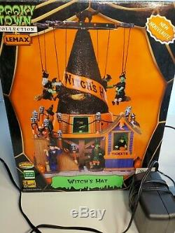 Lemax spooky town RARE Witch's Hat-Light, Motion, Sound Retired (2008)