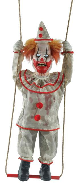 Lifesize Animated Swinging Happy Homicide Evil Clown Doll Halloween Prop Haunted
