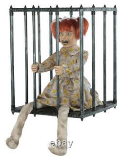 Life Size Animated Caged Kid Walk Around Halloween Prop Costume Haunted Decor