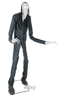 Life Size Animated Slim Soul Stealer Halloween Prop Haunted Slender Man Decor